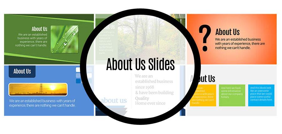 About Us Slides Set