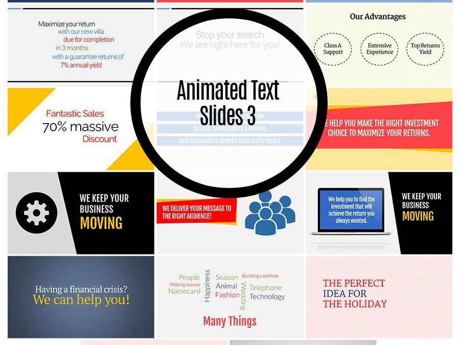 Animated Text Slides 3
