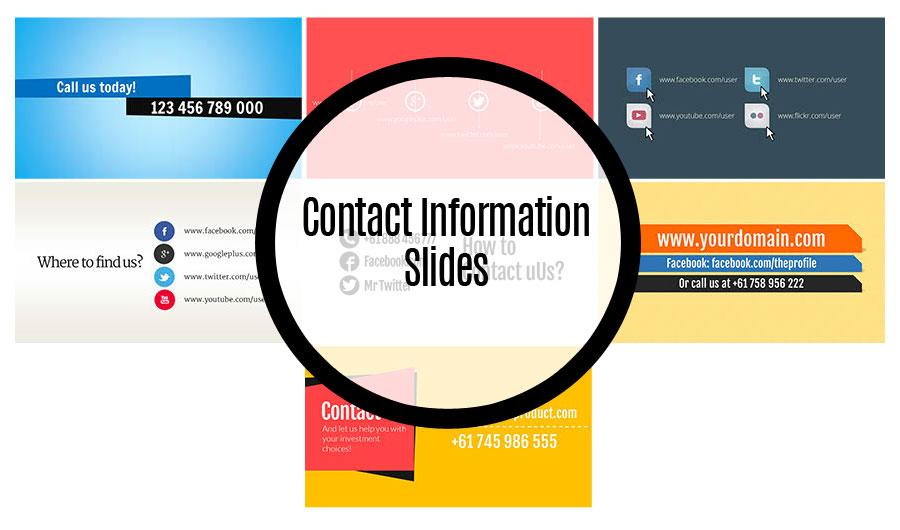 Contact Info Slides