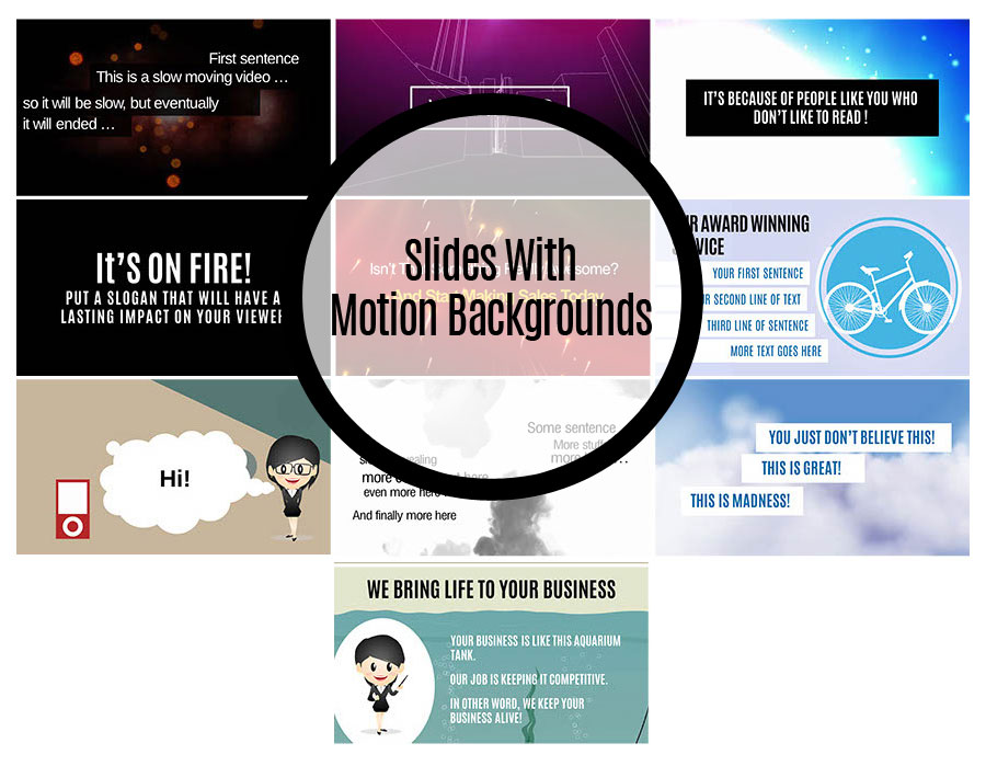 Slides With Motion Backgrounds