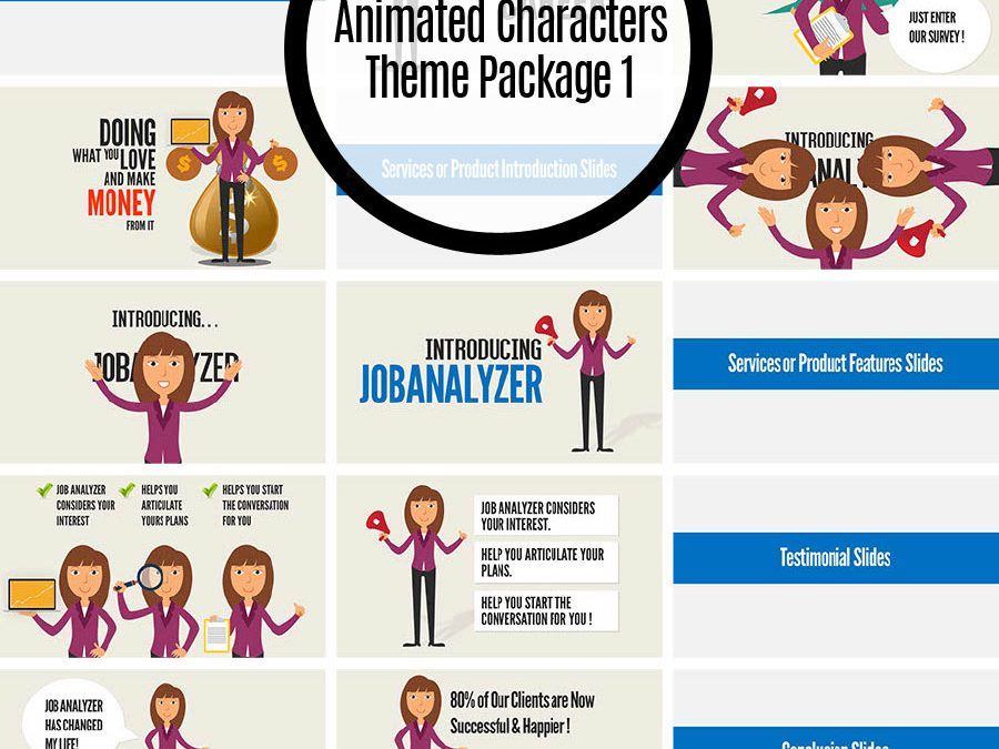 Animated Characters Theme Package 1