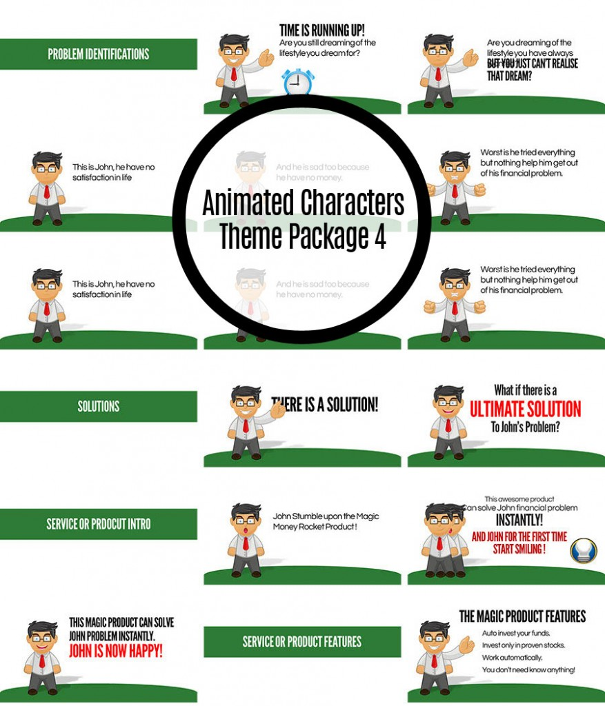 Animated Characters Theme Package 4