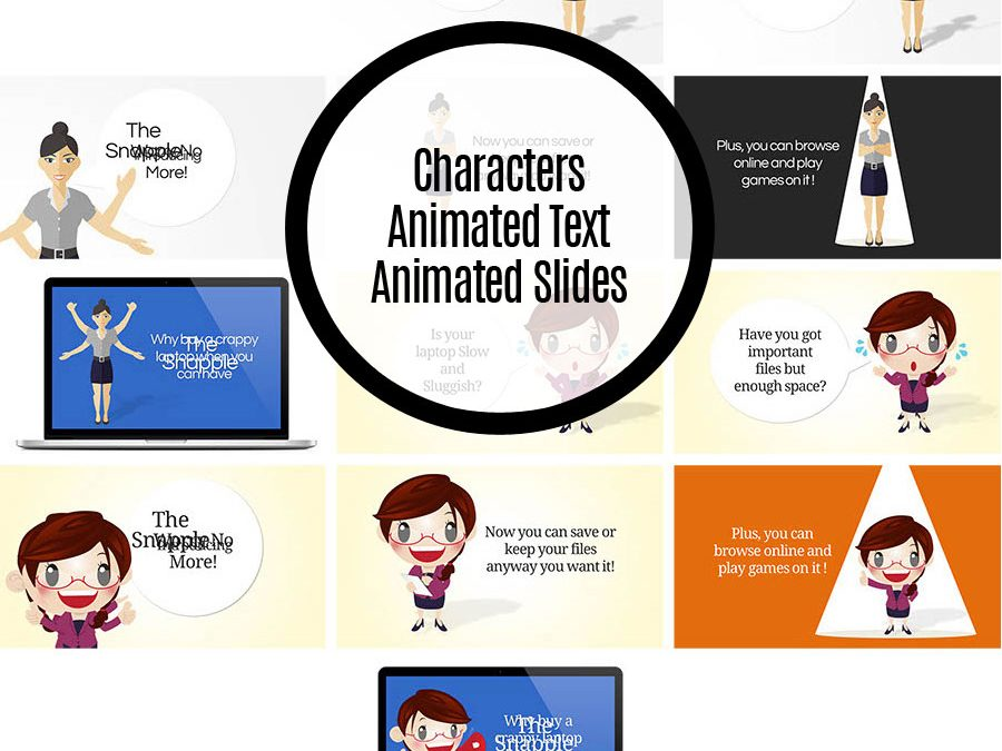Character Animated Text Slides Set
