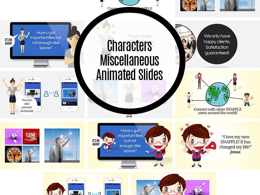 Character Miscellaneous Animated Slides Set