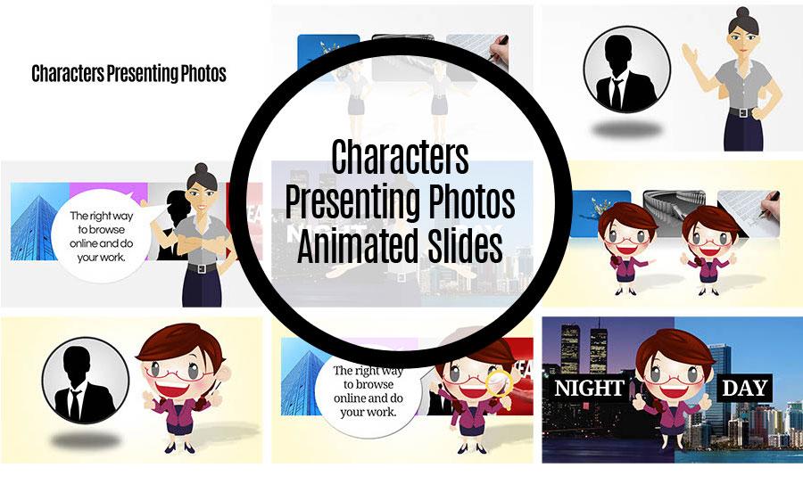 Character Presenting Photos