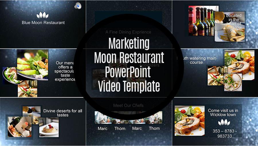 Midnight moon restaurant superpowerppt midnight moon restaurant powerpoint video template marketingmoonrestaurant toneelgroepblik Image collections