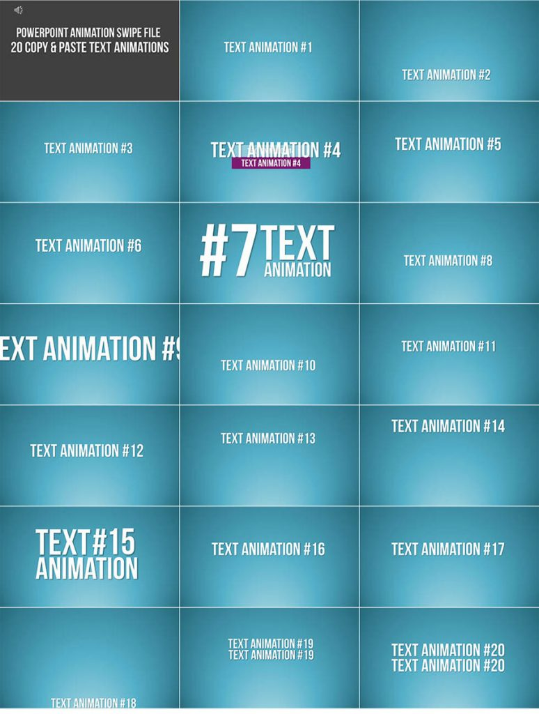 Text Animation Swipes 2