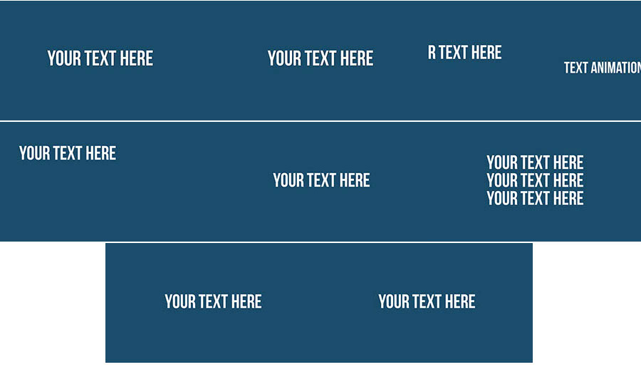 Minimalist Clean Text Animation Slides