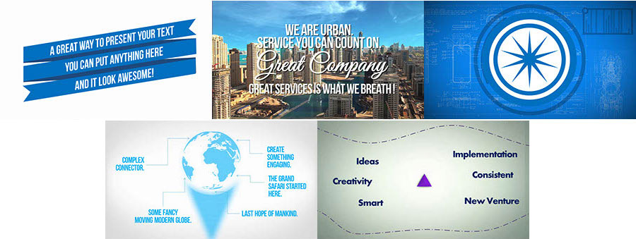 Modern Animated Text With Moving Backgrounds