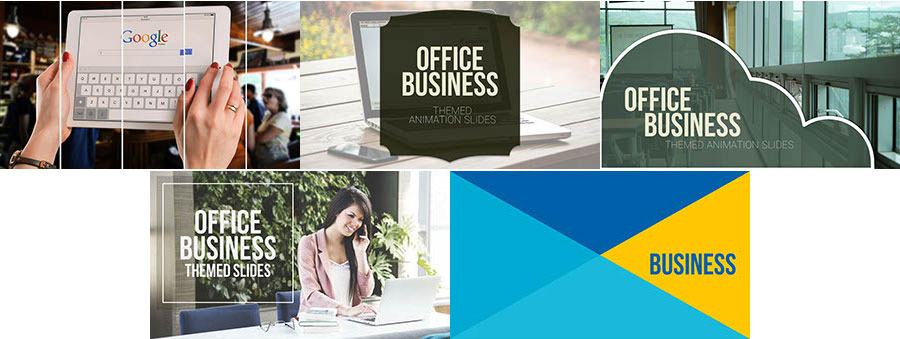 Office Business Themed Animation Slides