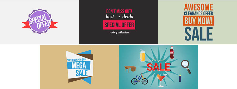 Promotion Or Sales Offer Slides