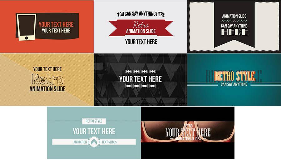 Retro Text Animation Slides