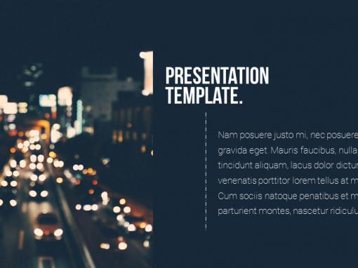Business Blue Presentation Template