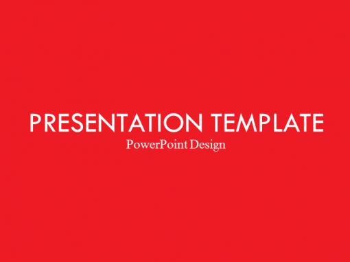 Corporate Red Presentation Template