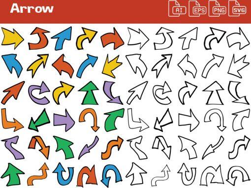 Arrow Whiteboard Graphics Set
