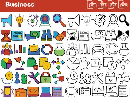 Business Whiteboard Graphics Set