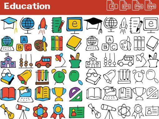Education Whiteboard Graphics Set