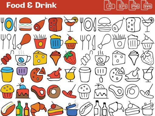 Food & Drink Whiteboard Graphics Set