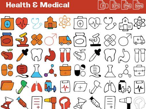 Health & Medical Whiteboard Graphics Set
