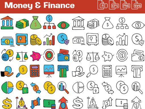 Money & Finance Whiteboard Graphics Set