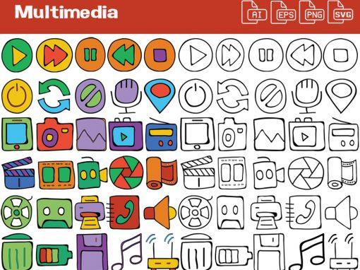 Multimedia Whiteboard Graphics Set