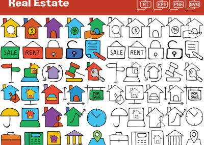Real Estate Whiteboard Graphics Set