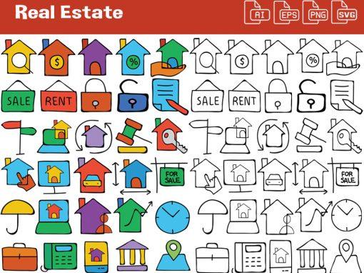 Real Estate Whiteboard Graphics Set