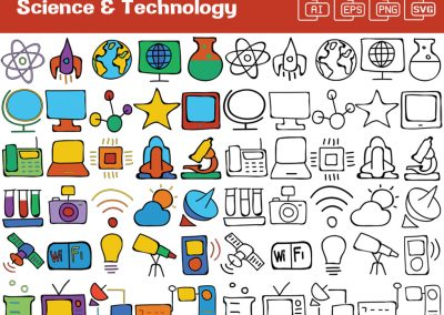 Science & Technology Whiteboard Graphics Set