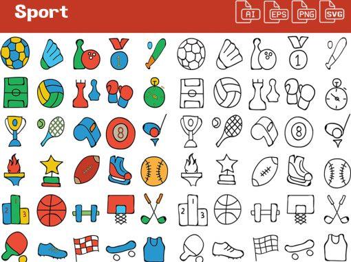 Sports Whiteboard Graphics Set