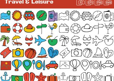 Travel & Leisure Whiteboard Graphics Set