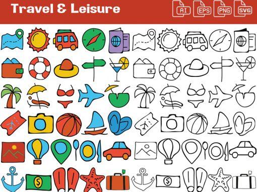 Travel & Leisure Whiteboard Graphics Set