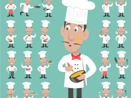 Chef Male Mascots Set