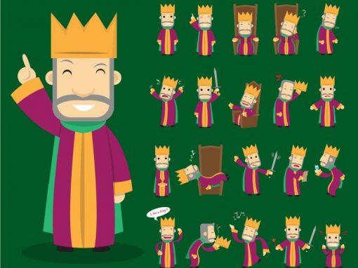 King Mascots Set