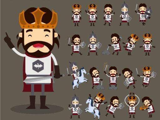 King Author Mascots Set