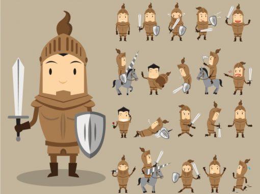 Knight Mascots Set