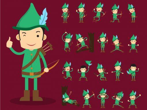 Robin Hood Mascots Set