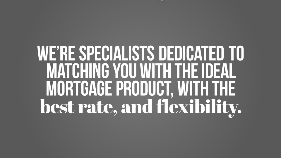 Niche Kinetic Typography Mortgage Broker Superpowerppt