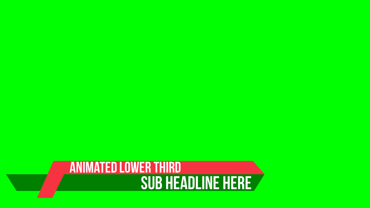 Lower Third Template Chroma Keys